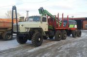 Лесовоз Урал 43204 с манипулятором Атлант